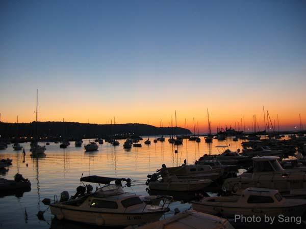 Izola的夕陽