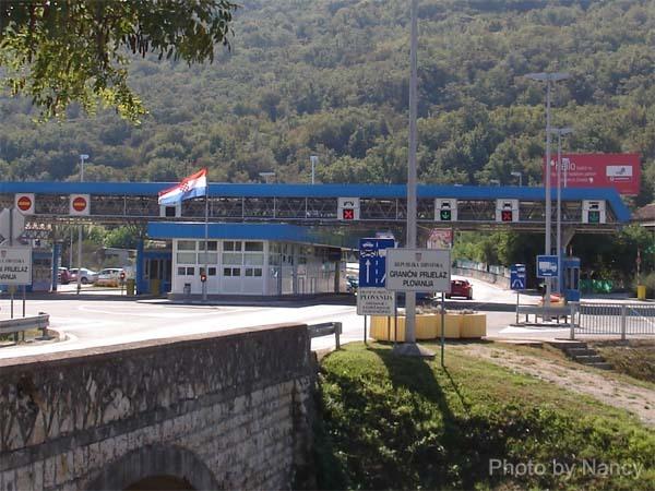 只能遙望的克羅埃西亞的邊界