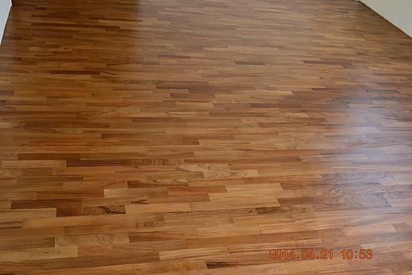 緬甸柚木平口地板0
