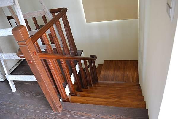 原古-藝術拼接 緬甸柚木 樓梯踏板