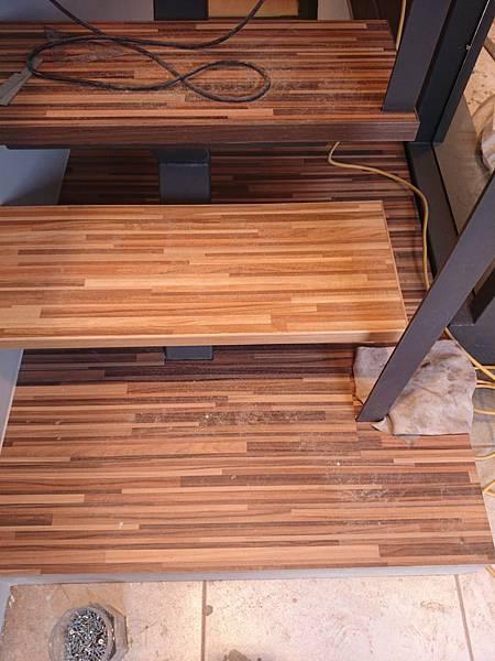 超耐磨地板 時尚系列 歐式拼木 做樓梯踏板 (5)