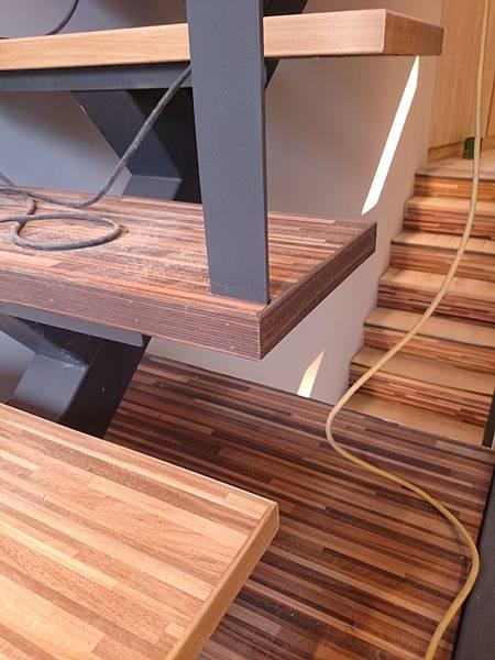超耐磨地板 時尚系列 歐式拼木 做樓梯踏板 (6)