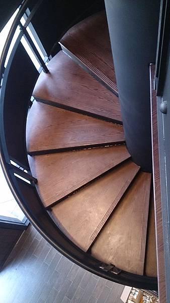 水曲橡樓梯踏板 藝術拼板 (3)