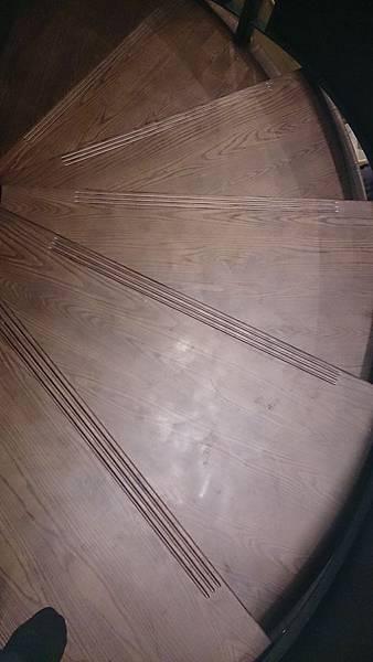水曲橡樓梯踏板 藝術拼板 (2)