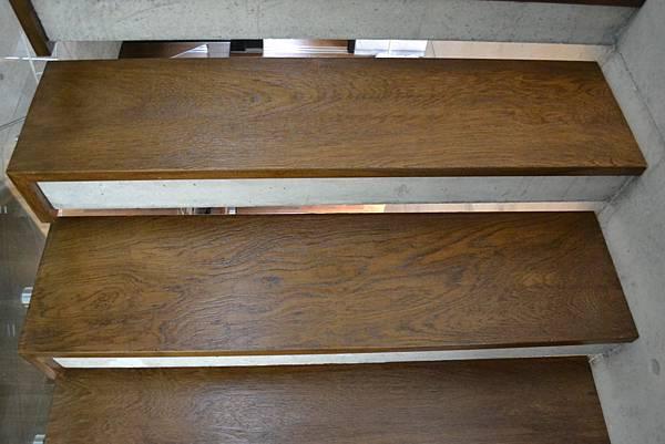 新原古-緬甸柚木實木樓梯踏板 手工染色