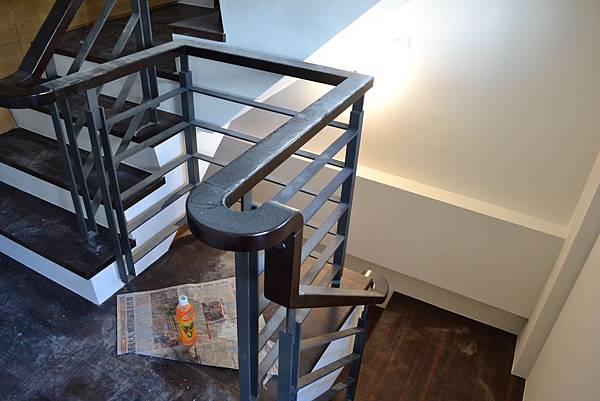 山衍地板 匾頭日式浮手 雞翅木拼接地板做樓梯踏板 (4)