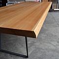 緬甸柚木桌板,(灰)黑鐵腳架 (3).JPG