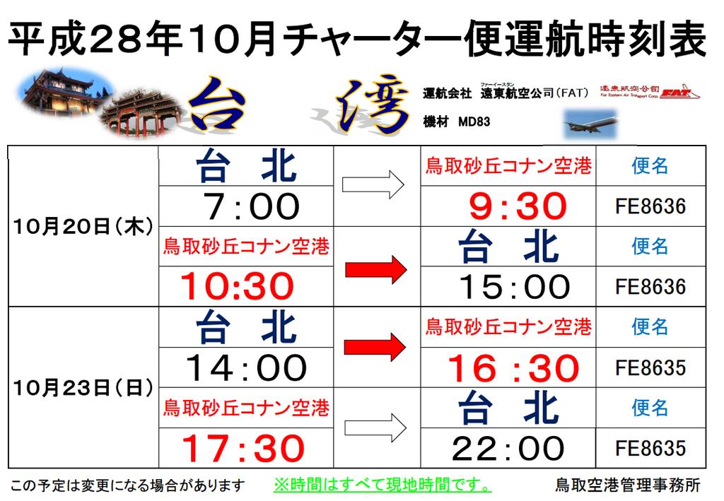 表 鳥取 空港 時刻