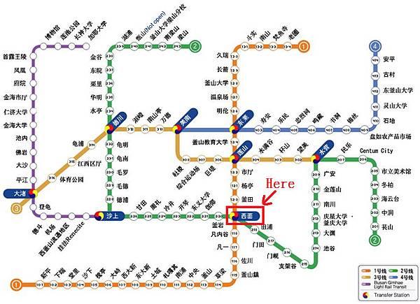 000 Metro Busan map