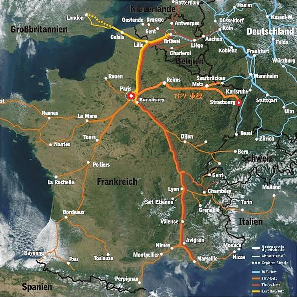 France-TGV-bahnnetz-frankreich