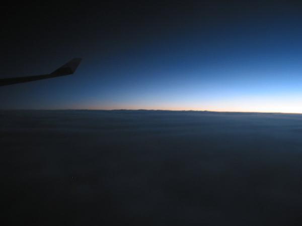 飛機上的署光