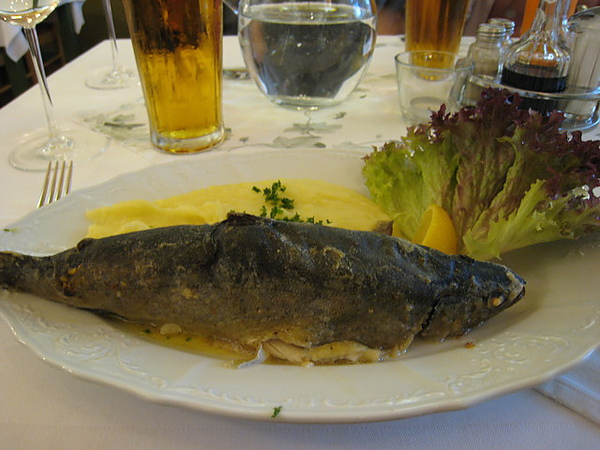 這一餐我們吃鱒魚