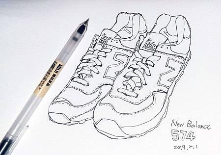 球鞋線條練習