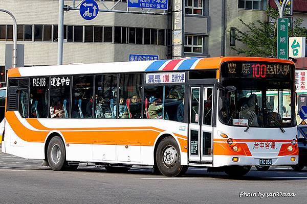 台中客運 100 FAE-036