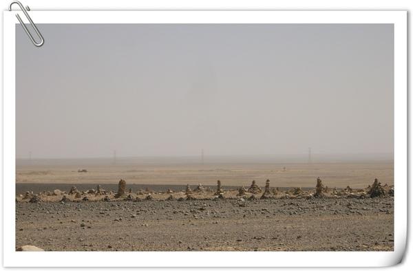 沿路景象(用石頭來標圍自有土地)