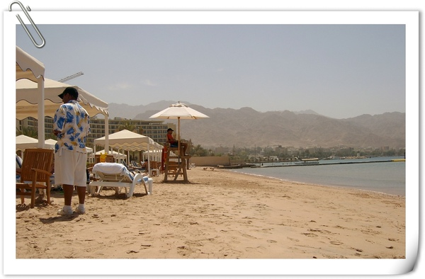 渡假飯店的沙灘一角