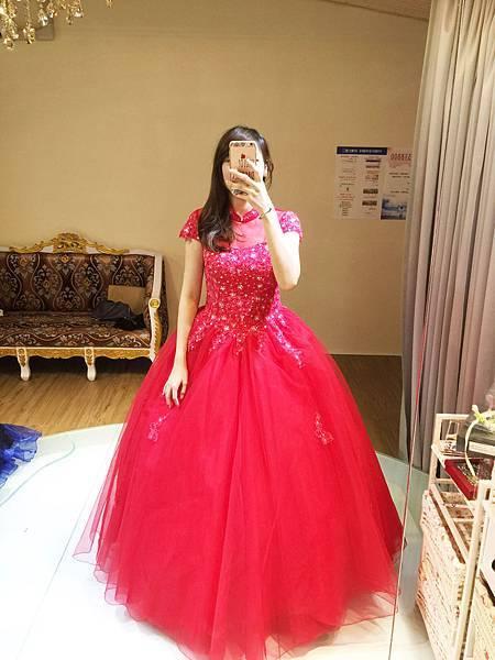 高雄禮服出租(6)-桃紅色禮服