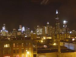 Chicago Skyline夜景(2008 winter)