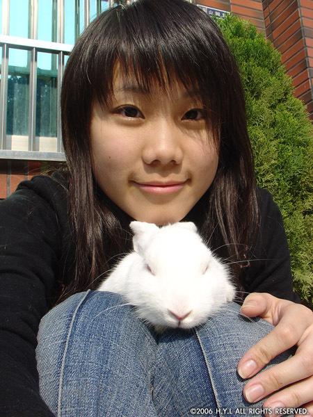 我和同學的兔子