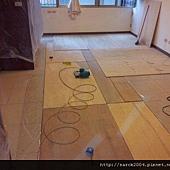 風格木地板~12/23~中和廣福路施工木地板!!