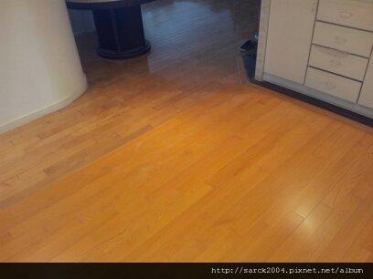 5/23--信義路中正梅園-金檀實木地板修補完工!