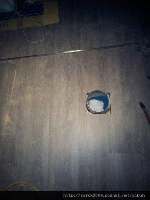 6/3~5-北市光復南路韓式燒肉店超耐磨木地板施工(品名:極鐵)