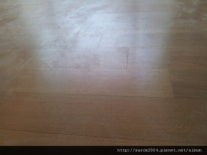6/27-林口實品屋-木地板完工-使用頂級木地板!