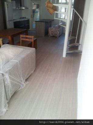 2012/8/24-25-中和中山路住家木地板施工作品(使用:威尼斯)之室內裝修!