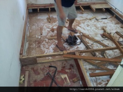 2012/9/6*蘆洲長安街*木地板架高拆除工程!2次施工復原!