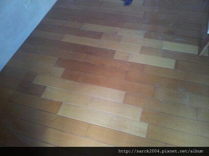 2012/10/4*新店新民街山毛櫸實木維修-木地板達人