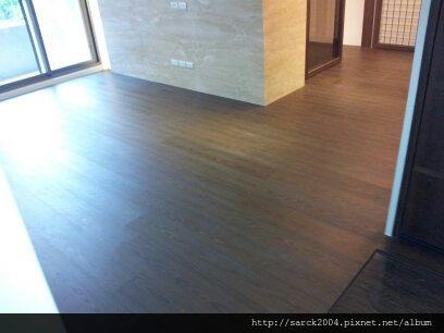 2012*台北市興隆路住家28坪木地板施工作品*夜來香*3D同步對紋
