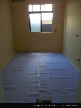 渡假風系列@品名:愛爾斯@海島型超耐磨木地板@54坪木地板施工@PE防水靜音墊