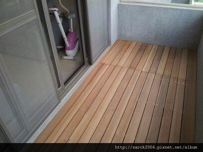 2012*北市興隆路住家陽台木地板施工@玉檀@戶外材木地板