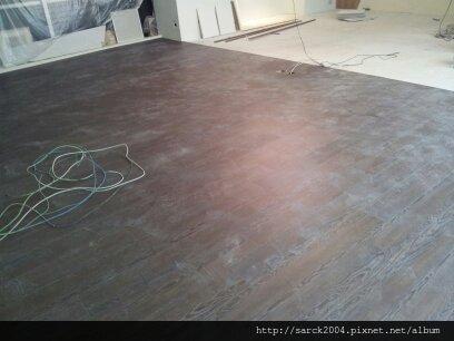2013*新竹科學園區商辦木地板施工*極勳(MIT)*水波紋系列