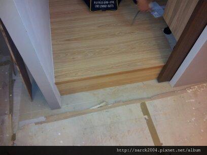 2013*北市士林區木地板架高施工作品*台灣檜木*促銷款/無接縫系列*超耐磨木地板