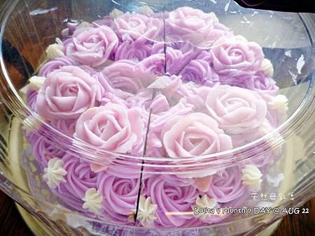 粉紫玫瑰蛋糕皂 (3)