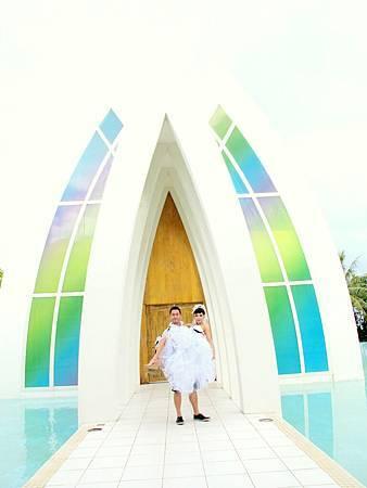 玩拍婚紗 第二站 關島 最水教堂 海之教堂 (80)婚紗照用