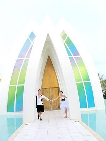 玩拍婚紗 第二站 關島 最水教堂 海之教堂 (87)婚紗照用