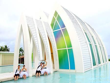 玩拍婚紗 第二站 關島 最水教堂 海之教堂 (93)婚紗照用