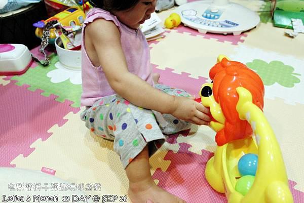 {好康部落試用}葡萄的第一樣互動玩具,兒樂寶獅子彈跳玩球遊戲組 (13)