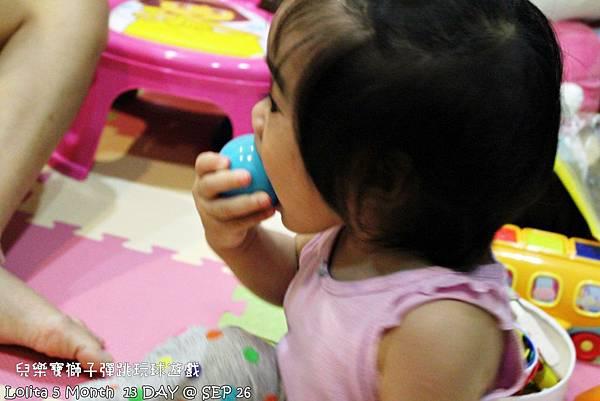 {好康部落試用}葡萄的第一樣互動玩具,兒樂寶獅子彈跳玩球遊戲組 (44)