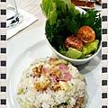 商業午餐~培根蘑菇拌飯 (2)