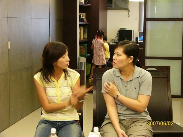 悅美&小憶(一個是旅行社的老闆娘,一個是東森美洲部的經理)