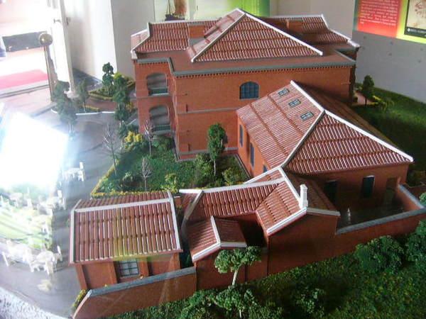 紅毛城模型-3