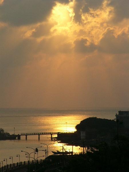 淡水的夕陽~這張最有feel
