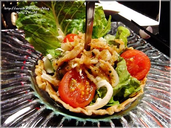 先付-櫻花蝦大根沙拉