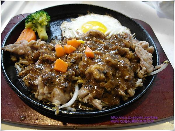 豬肉+黑糊椒醬鐵板燒