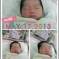 大家好~我是出生一天的B寶妹‧這是PAPA MAMA給我的小暱稱!!