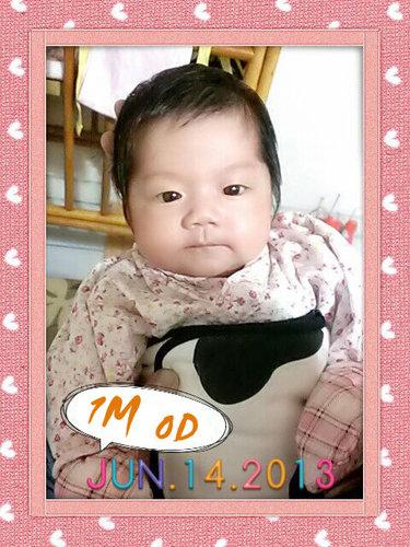 2013 6/14  (1M 0D)  小Niki滿月囉