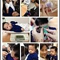 ♥Nini妞 3m21d♥今天要打[肺炎鏈球菌] [口服輪狀病毒疫苗] ,奶奶和拔巴帶小妞來打針!!